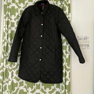 Knee Length Black Ralph Lauren Coat